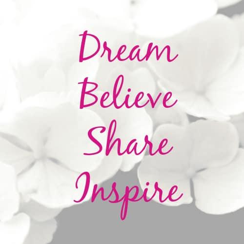 Inspiring money stories, dream, believe, share, inspire