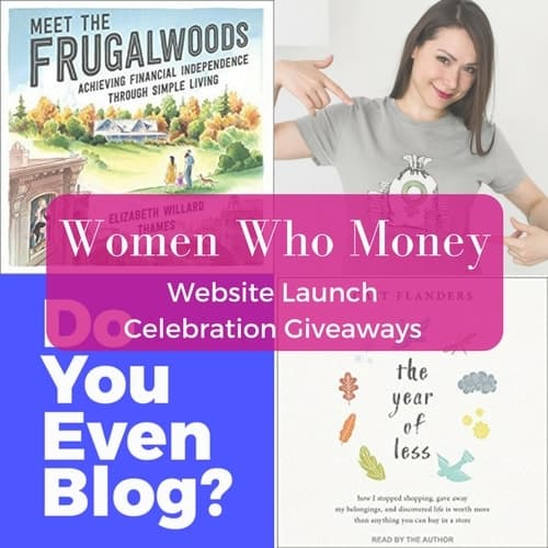website launch giveaways books and t-shirts