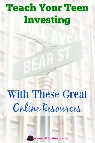 At the intersection of Bull Avenue and Bear Street, these online resources are great for helping teens learn about money.