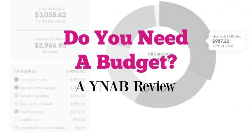 Do You Need a Budget - YNAB Review 1