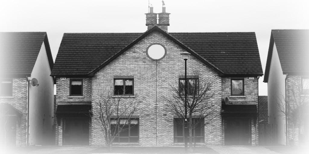 exterior of brick home