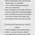 Understanding the differences between part-time work and contract work, as well as the tax implications and the benefits and drawbacks, can help you make the best decision for your particular situation and interests.