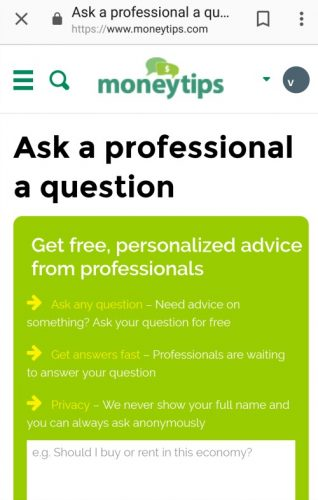 MoneyTips Ask The Professionals