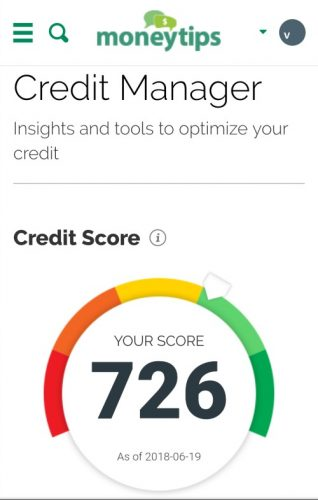 MoneyTips Credit Score