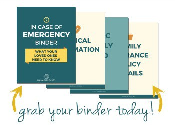 Emergency Documents ICE Binder Buy Today