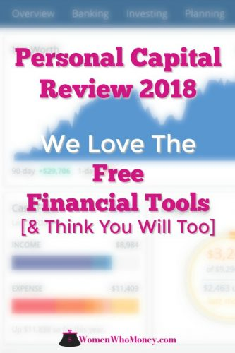 This Personal Capital review was completed by Amy, a co-founder of Women Who Money. She's been actively using the free financial tools at Personal Capital since 2014 to aid her in managing her money and planning for a secure retirement. We think you love the net worth calculator, retirement planner, fee analyzer, and investment checkup tools as much as she does. #personalcapitalreview #freefinancialtools #retirementplanner #networth #calculator #feeanalyzer #investments #cashflow #budgeting