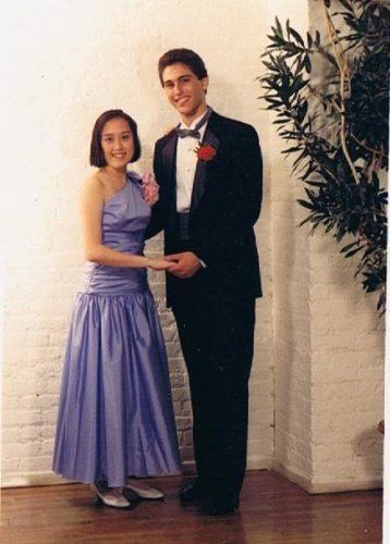 Scott and Caroline Ceniza-Levine HS prom picture