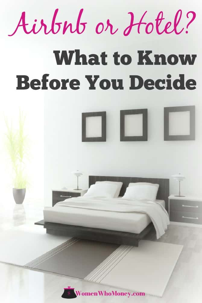 Choosing an Airbnb or hotel, starts with knowing what you need and want from your lodging experience. Our review, comparisons, and tips can help you decide. #Airbnb #hotel #lodging #travel #rooms #travelforless
