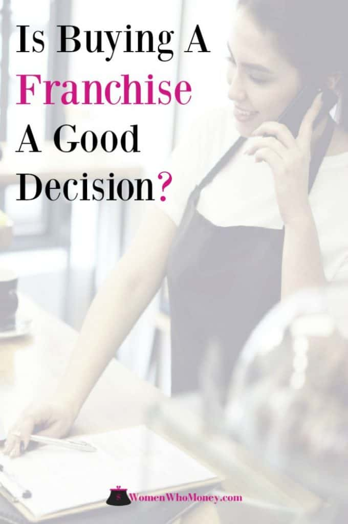 female business owner working in a franchise coffee shop