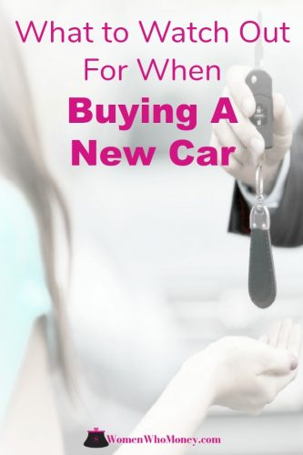 female buying a new car