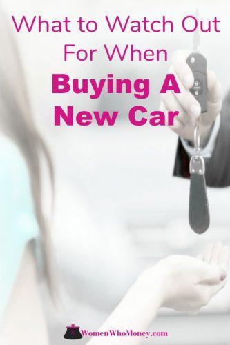 female buying a new car