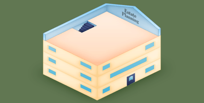 illustration depicting the attic of a financial house