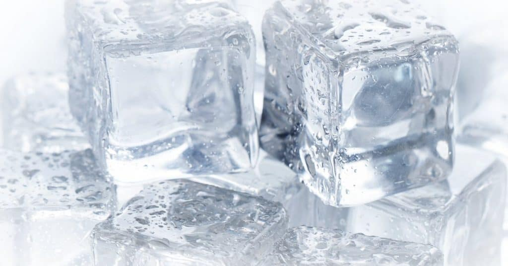 stacked frozen ice cubes