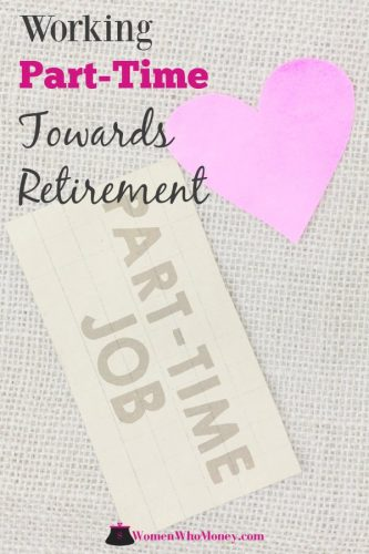 cut out of a pink heart and a card with part-time job written on it