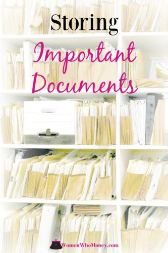 boxes and files of important documents