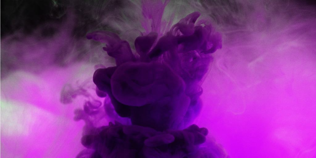 purple smoke in symbolism of financial abuse and domestic violence awareness