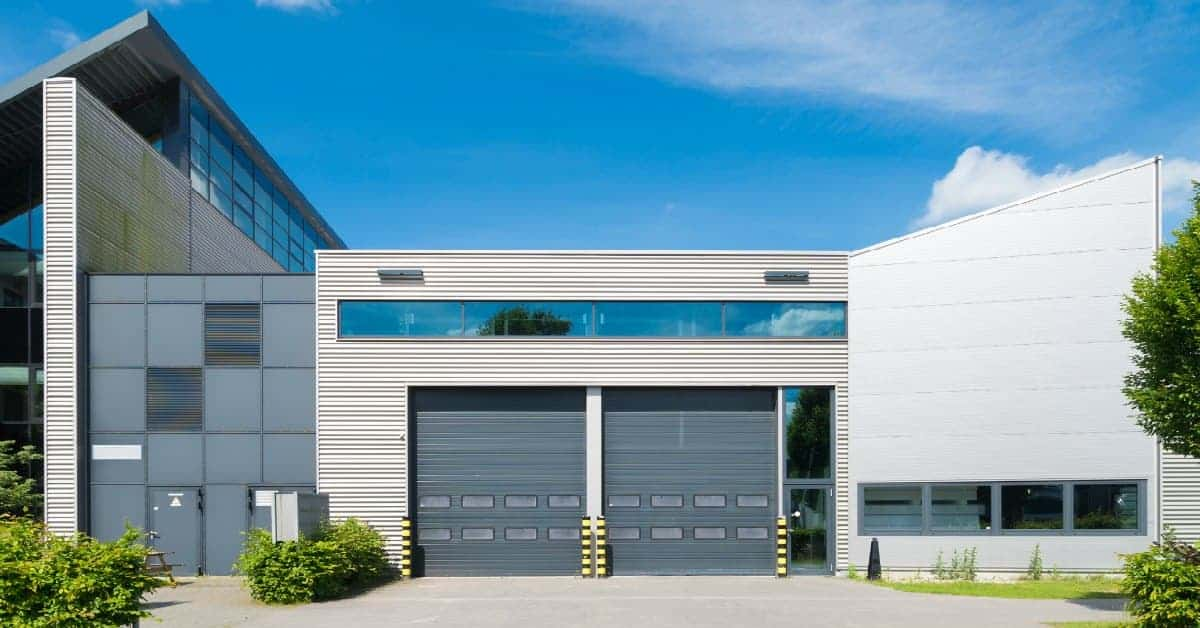 exterior of a modern looking industrial building