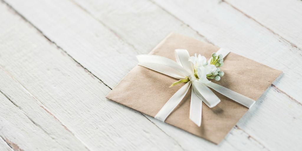 gift card or cash envelope on white background 2
