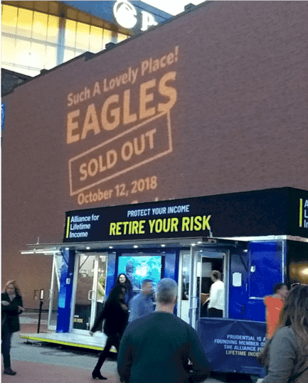lifetime fans eagles concert sign and retire your risk booth