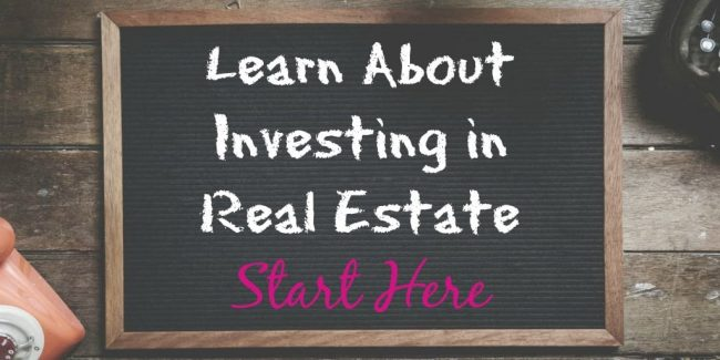learn about investing in real estate written on chalkboard