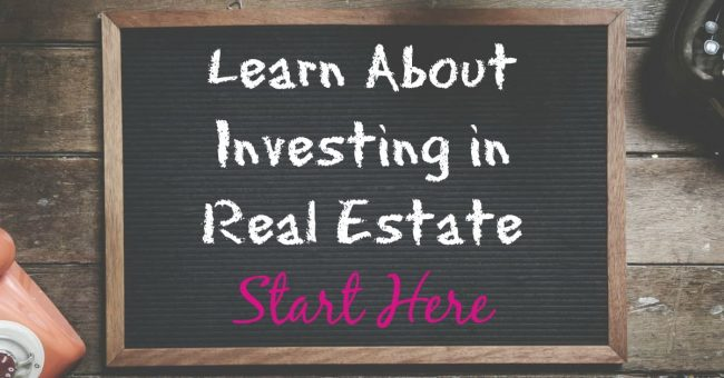 investing-in-real-estate written on chalkboard