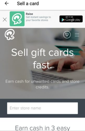 sell gift cards on raise.com