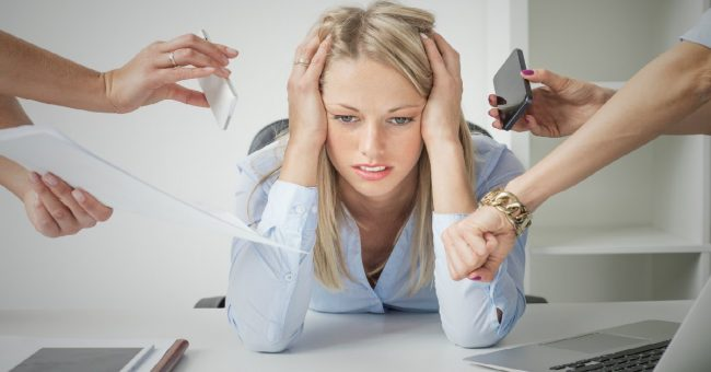 business woman with job burnout 1
