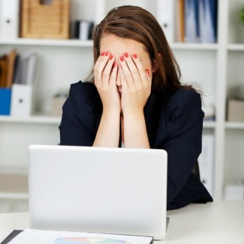 depressed woman suffering from work related burnout 3