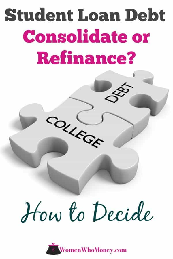 Still paying for college? If your student loan debt still has you locked down. It may be time to consolidate your loans or refinance them to a lower interest rate. Here's what to know and how to qualify for the two different ways to help deal with your student loan debt payments.