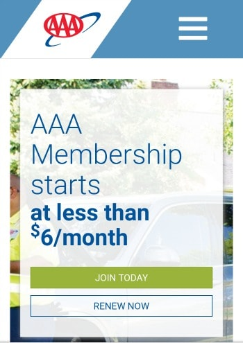 AAA membership starts at less than $6 a month