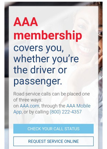 AAA membership review covers you not specific car