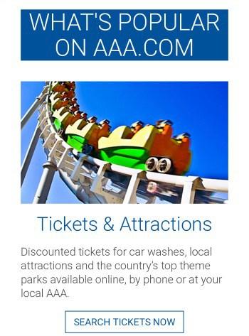 AAA discount tickets