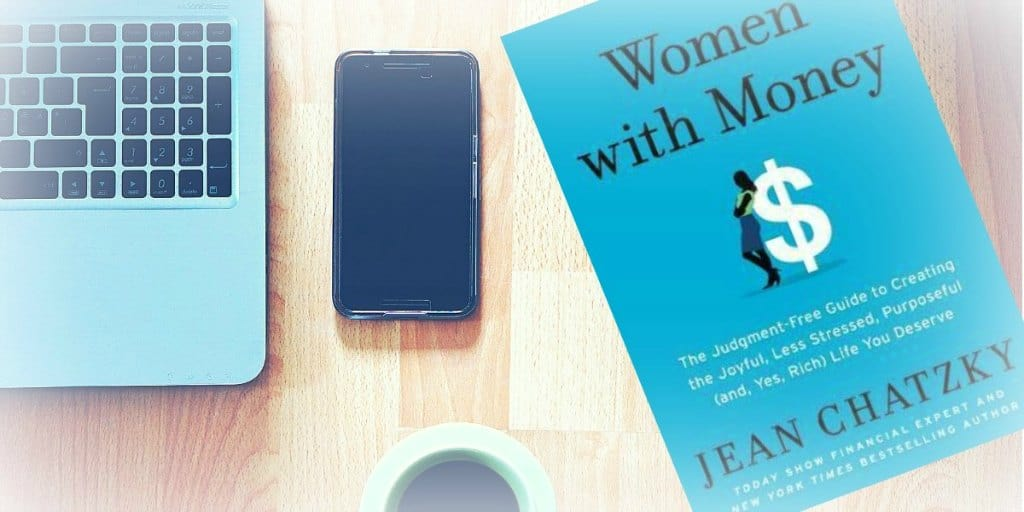 Women with Money book photo on table in cafe 2