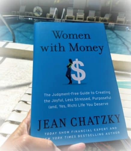 Women with Money book photo poolside