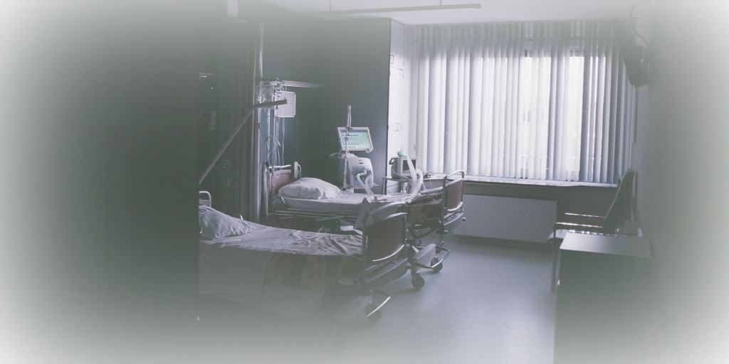 hospital room with two beds for advance medical care