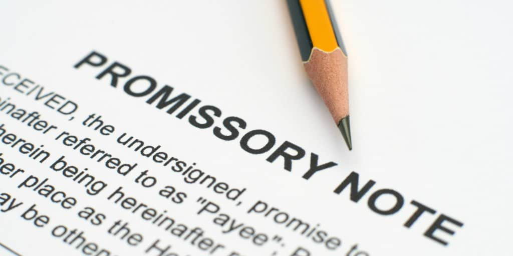promissory note to use when loaning money to family or friend