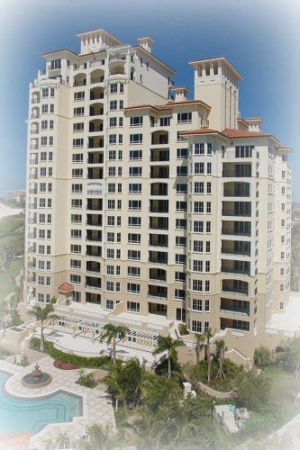 high-rise timeshare condo property