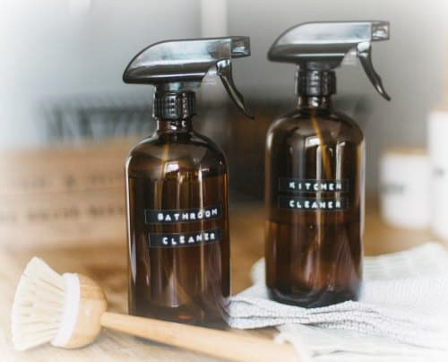 save money by making your own kitchen and bathroom cleaning products