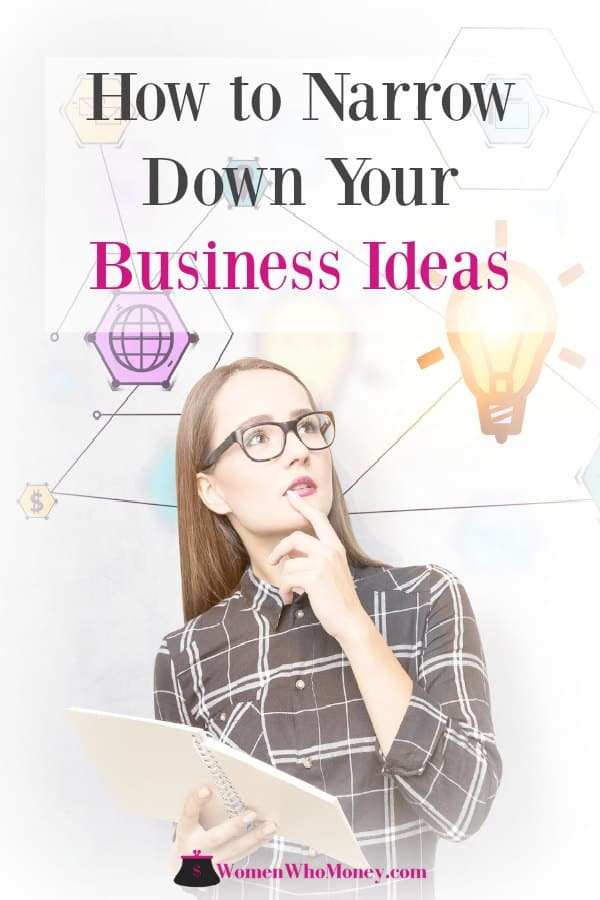 Determine the best business idea worth pursuing and get started on turning it into a money making company.