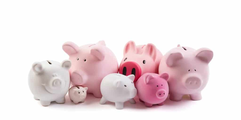 multiple piggy banks to hold sinking funds savings