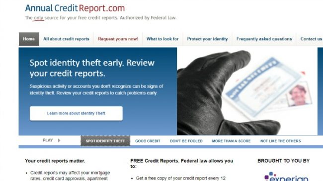 order your annual credit report