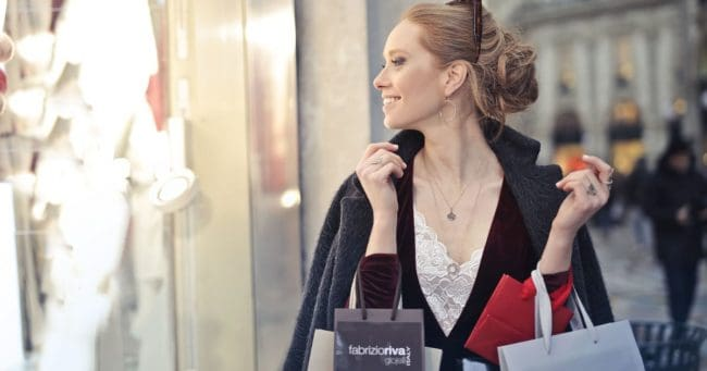 female shopping for a little retail therapy