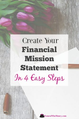 create your financial mission statement in 4 easy steps