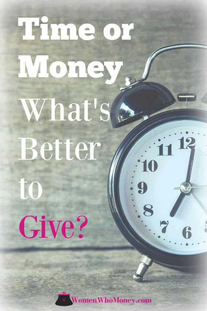 is it better to give time or money to charity