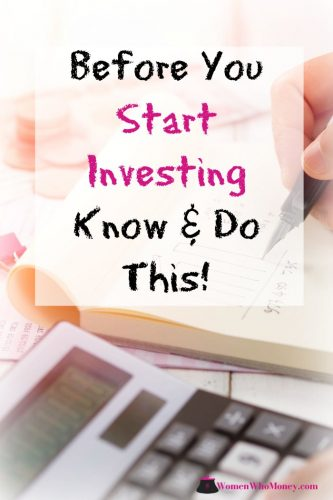 before you start investing know and do this graphic