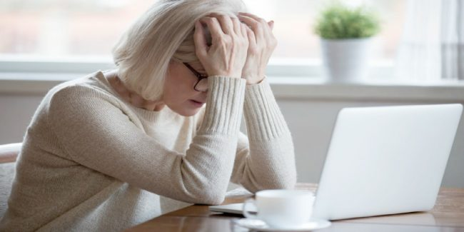woman worried about her finances during a divorce