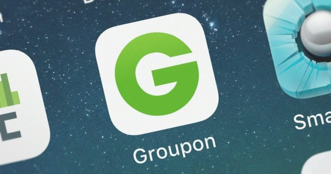 groupon app shown on smartphone screen