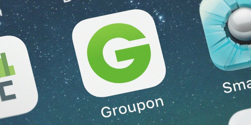groupon app shown on a smart phone
