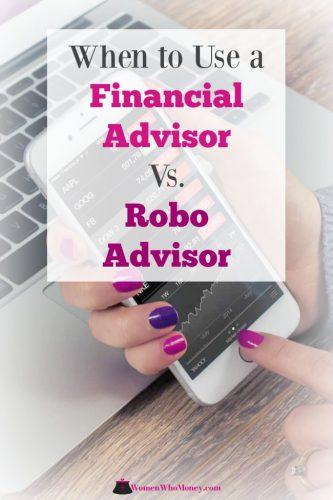 When to use a financial advisor versus a robo advisor graphic