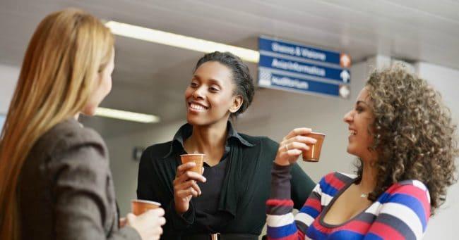 business women networking